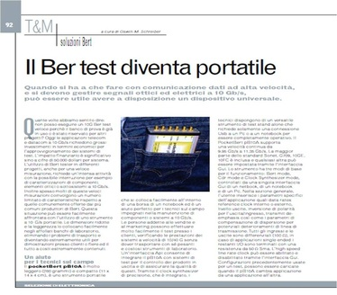 SELEZIONE DI ELETTRONICA - picture of article about pocketBERT
